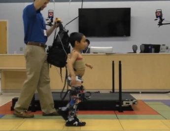 Exoskeleton Designed to Enhance Walking of Children with Cerebral Palsy