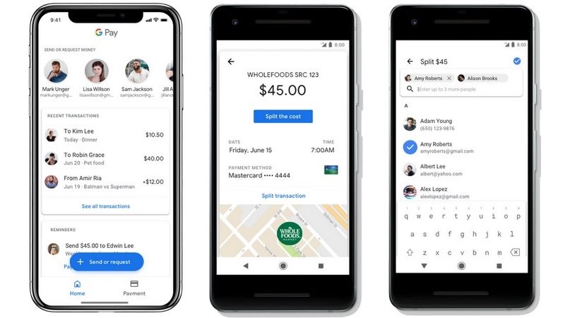 Google Pay Receive Boarding Passes, Facility To Transfer Funds To Contacts